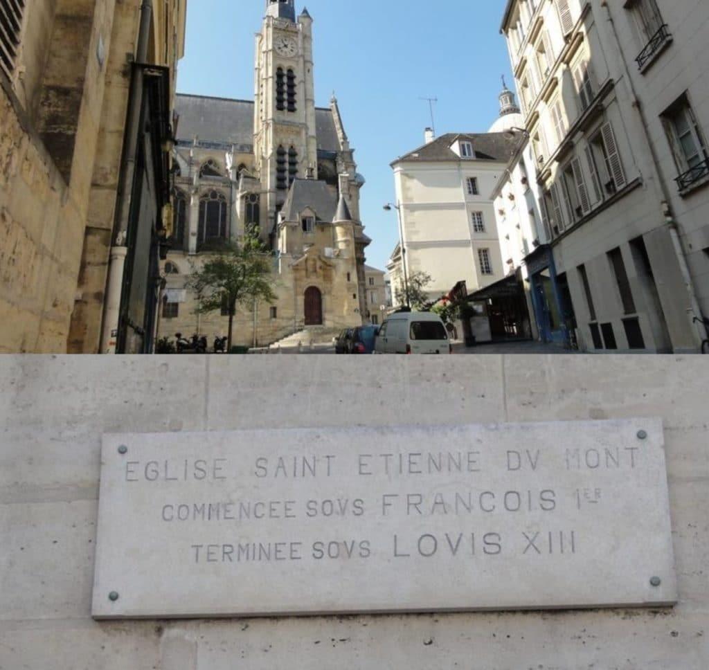 Église Saint-Étienne-du-Mont proche restaurant groupe L'Escarmouche à Paris 5e